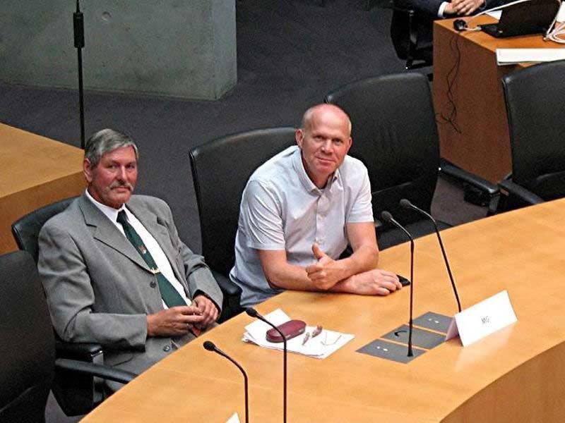 Harald Hartmann und Roland Zander auf der Tagung des Bundeswahlausschussses 2017.