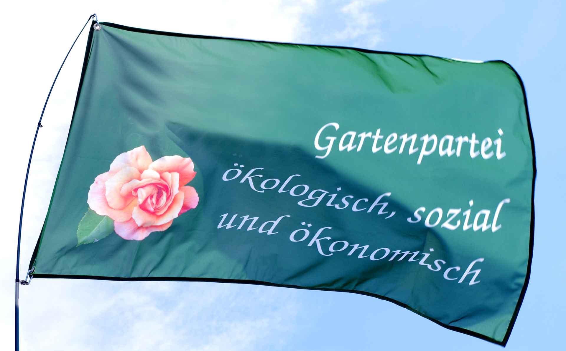 Flagge der Gartenpartei