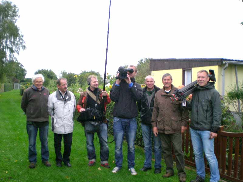 Dreharbeiten am 26.09.2013 für eine Sendung des MDR – ein Drehteam aus Leipzig zu Besuch