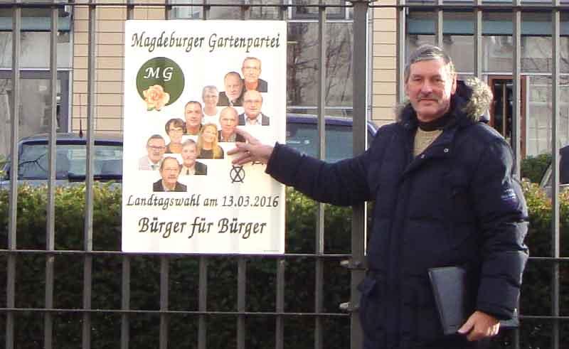 Werbung zu den Landtagswahlen 2016