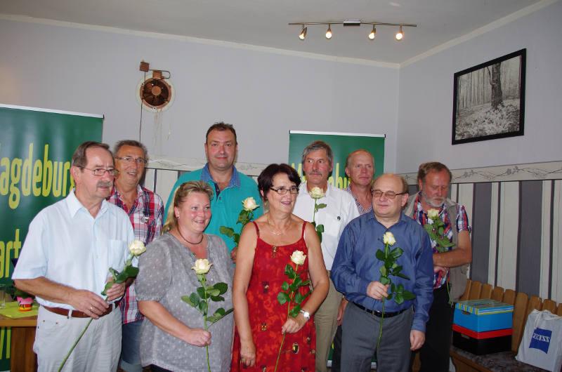 Blumen für die Kandidaten zur zur Landtagswahl 2016 in Sachsen-Anhalt